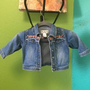 Distressed Rosey Jean Jacket Size 18M